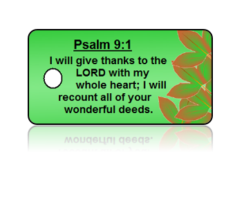 Psalm 9:1 Holiday Scripture Key Tags
