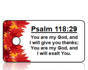 Psalm 118:29 Thanksgiving Scripture Key Tags