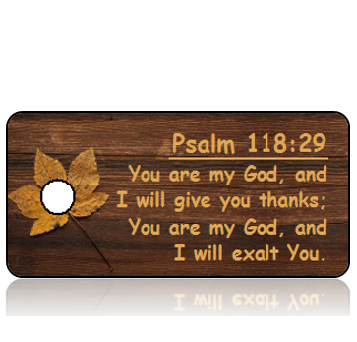 Psalm 118 vs 29 - Wood Panel with Gold Leaf