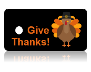 Give Thanks Holiday Scripture Key Tags