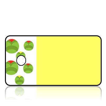 Create Design Key Tags Modern Ladybug Yellow