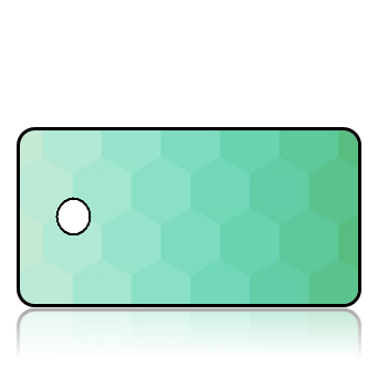 Create Design Key Tags Green Hexagon Pattern