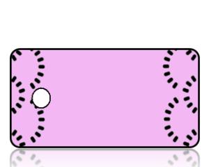 Create Design Key Tags Pink Black Dash Circles