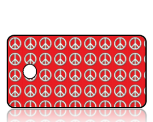 Create Design Key Tags White Peace Signs Red Background