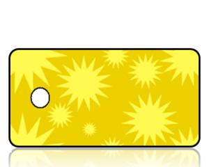 Create Design Key Tags Modern Sun Yellow Two Tone