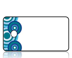 Create Design Key Tags Blue Modern Circles Border