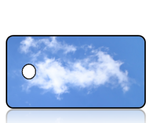 Create Design Key Tags Blue Skies White Cloud