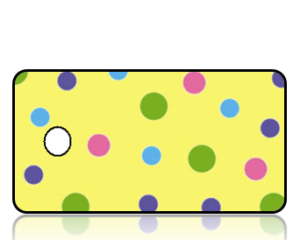 Create Design Key Tags Color Dots Yellow Background