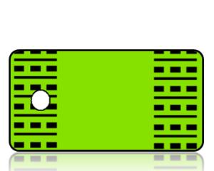 Create Design Key Tags Lime Green Black Modern