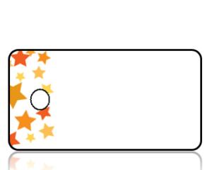 Create Design Key Tags Orange Stars White Background