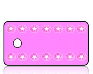 Create Design Key Tags Pink Texas Stars