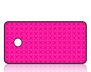 Create Design Key Tags Pink Two Tone Faint Circles