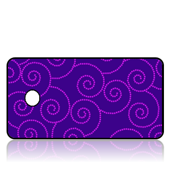 Create Design Key Tags Purple Background Pink Swirls