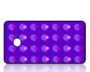 Create Design Key Tags Purple Super Retro