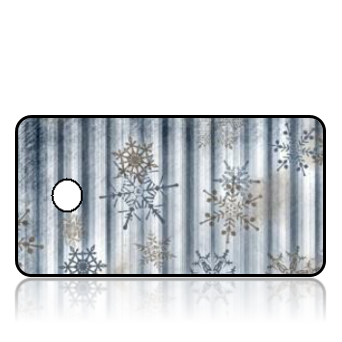 Create Design Key Tags Silver Snowflakes