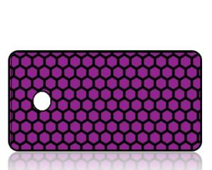 Create Design Key Tags Purple Honeycomb