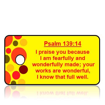 Psalm 139:14 Bible Scripture Key Tags NIV