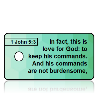 1 John 5:3 Bible Scripture Key Tags