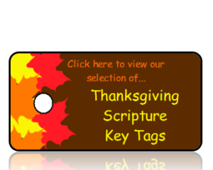 Thanksgiving Bible Scripture Key Tags