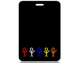 Create Design Bag Tag Education Stick Figures