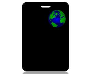 Create Design Bag Tag Nature Globe Black
