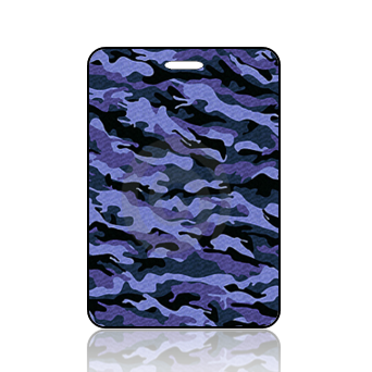 Create Design Bag Tag Blue Camouflage