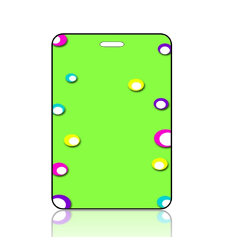 Create Design Bag Tag Lime Green Background Fun Colored Spots