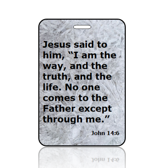John 14:6 Bible Scripture Bag Tag