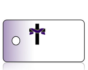 Create Design Key Tags Purple Gradient Background Cross Shroud