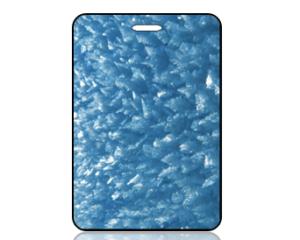 Create Design Bag Tag Blue Ice Crystal