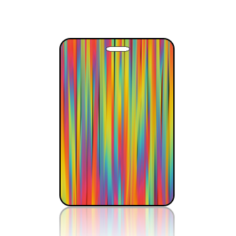 Create Design Bag Tag Color Stripes Musing