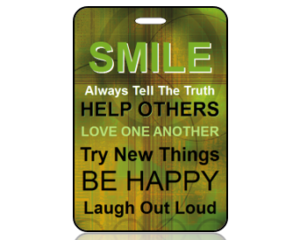Smile Bag Tags