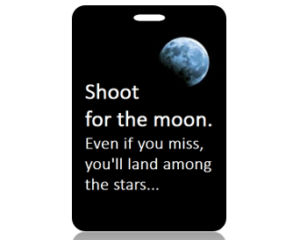 Shoot for the Moon Bag Tags