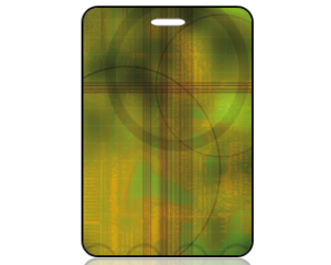 Create Design Bag Tag Abstract Green