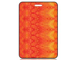 Create Design Bag Tag Red Orange Batik Fish Pattern