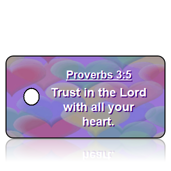 Proverbs 3:5 Bible Scripture Key Tags
