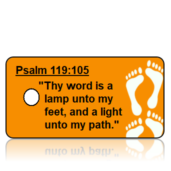 Psalm 119:105 Bible Scripture Key Tags