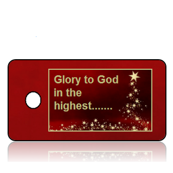 Glory to God Holiday Scripture Key Tags