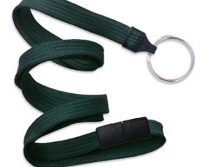 Breakaway Lanyard Forest Green 10 mm (3/8″)