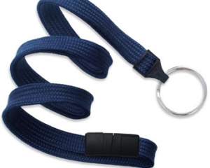 Breakaway Lanyard Navy Blue 10 mm (3/8″)