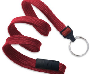 Breakaway Lanyard Red 10 mm (3/8″)
