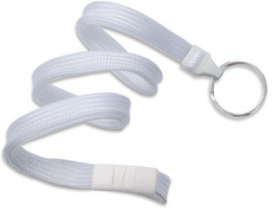 Breakaway Lanyard White 10 mm (3/8″)