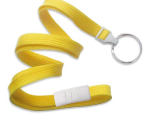 Breakaway Lanyard Yellow 10 mm (3/8″)