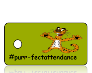 Purrfect Attendance Hashtag Key Tags
