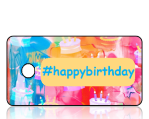 Happy Birthday Hashtag Key Tags