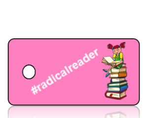 Radical Reader Girl Hashtag Key Tag