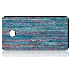 Create Design Key Tags Aqua Stripes Rug