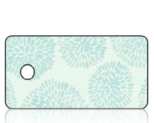Create Design Key Tags Aqua Chrysanthemum Print