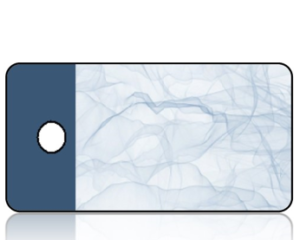 Create Design Key Tags Sheer Blue Cloth