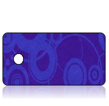 Create Design Key Tags Sheer Blue Circles